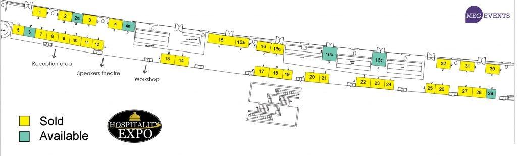 Hospitality Expo 2020 Floorplan.