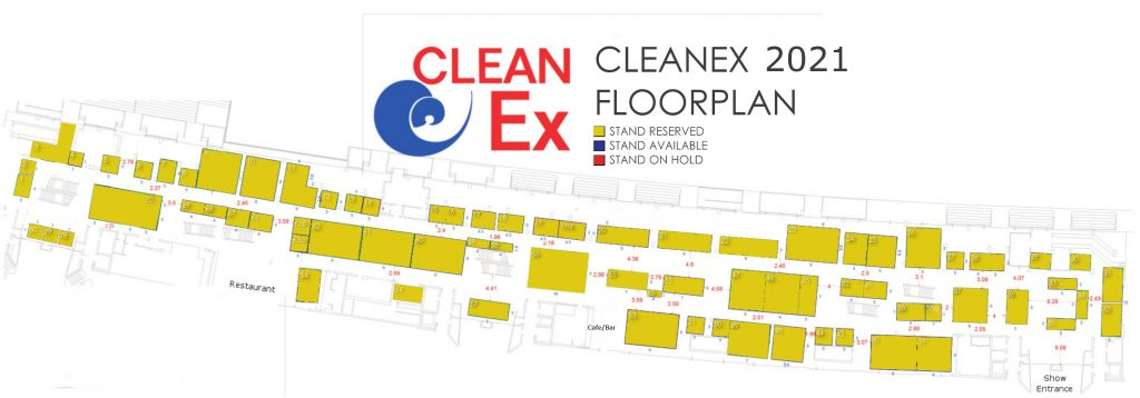 CleanEx floorplan 2020. The cleaning and textile services exhibition presented by megevents